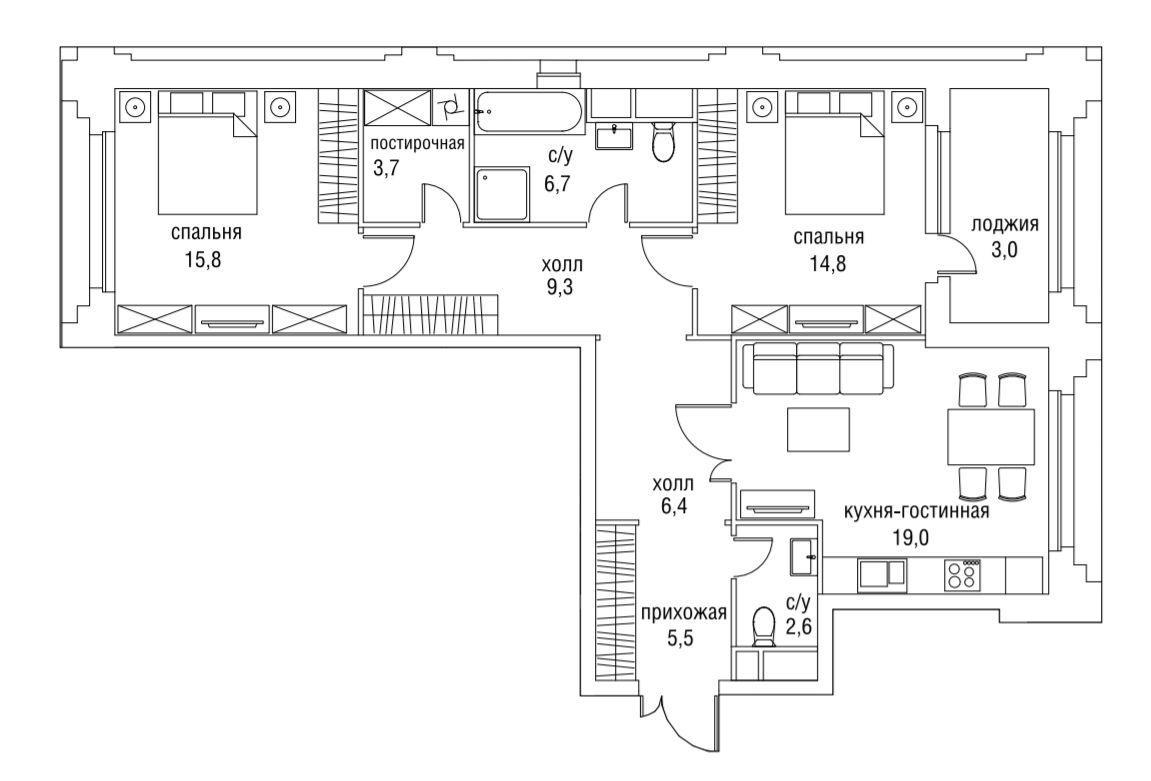 Планировки дом 34