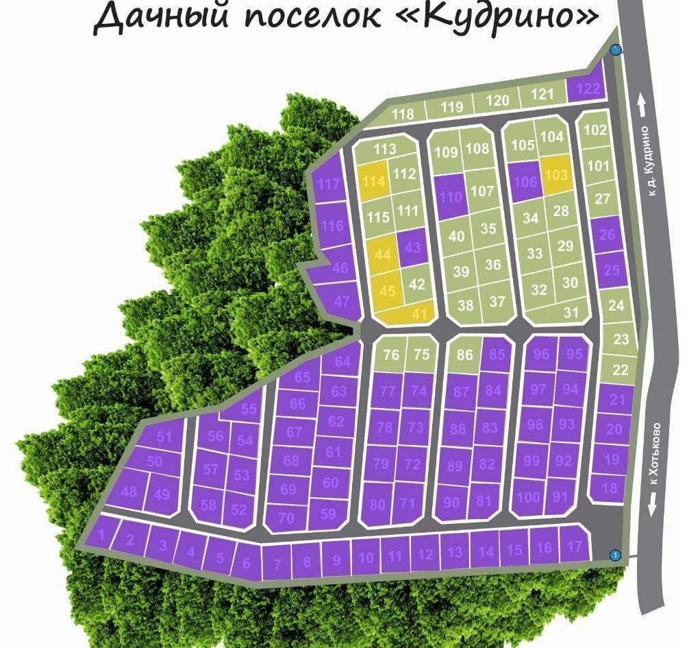"""КП """"Кудрино"""" генплан №1"""