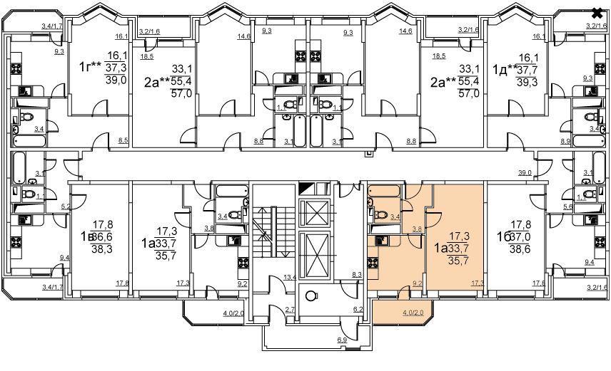 Планировки корпус 38