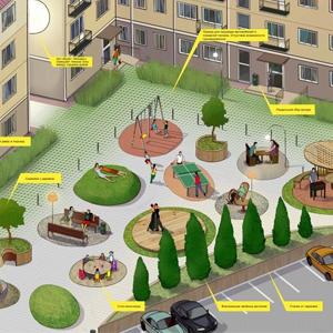 Территории 58 дворов ЦАО будут обустроены с учетом пожеланий местных жителей